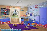 """Детская комната """"Тачки Молния Маквин 95"""" синяя"""
