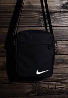 Мужская/женская сумка через плечо/мессенджер/барсетка найк/Nike, черная реплика, фото 1
