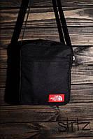 Мужская/женская сумка через плечо/мессенджер/барсетка норс фэйс/The North Face, черная реплика, фото 1