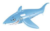 BW Плотик 41032  Акула, 183-102см, с ручками, ремкомплект, от 3лет, в кор-ке,