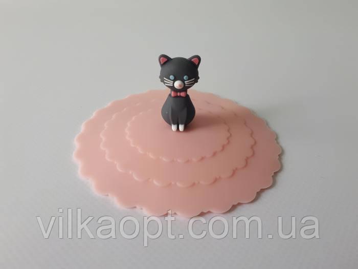 Крышка силиконовая на чашку d 10 cm Котёнок