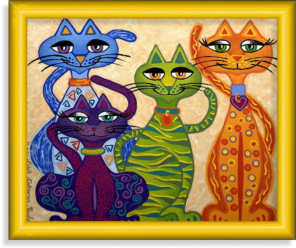 Репродукция  современной картины  «Вот такие мы разные, а мама одна!» 25 х 30 см