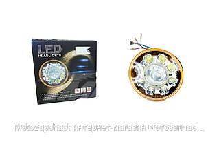 Вставка в фару LED Дельта d-14cm 21W (8 лампочек, дальний, ближний)