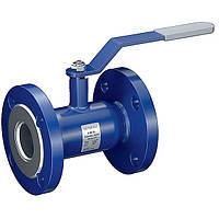 Кран шаровый стальной фланцевый стандартнопроходной INTERVAL Ру25 Ду100
