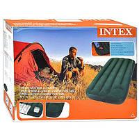 Матраc надувной 66950 встроенный ножной насос Intex
