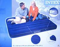 Матраc надувной 68758 синий сред. 137х191х22 Intex