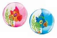 Мяч надувной 58031 Аквариум , 2 вида 61см. Intex
