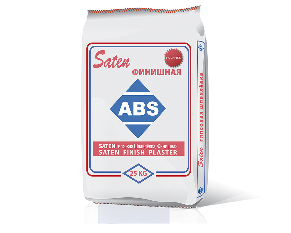 Штукатурка SATEN (мелкая) 25 кг финишная ABS - erniboom market в Херсоне