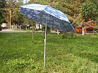 Зонт пляжный МН-0035 1,8м серебро наклон