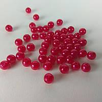 Бусины 6мм Жемчуг Металл 10г Красный 1762
