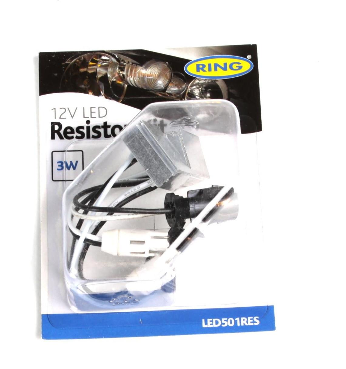 Обманка для подключения LED ламп 12V-3W (2шт) (резистор для светодиодов, переходник) (LED501RES) RING