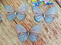"Аппликация, ""Бабочка шифоновая"", двухслойная, цвет на фото, 50х35 мм, 1 шт."