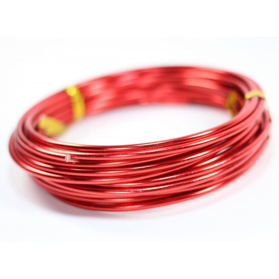 Проволока 2 мм для рукоделия 10 метров красна