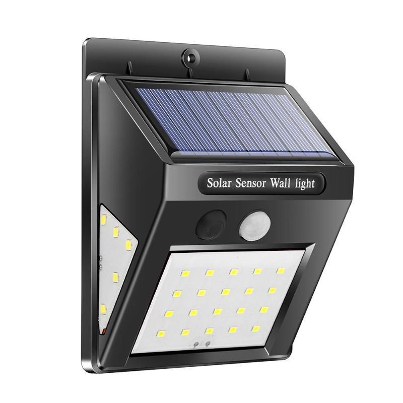 Уличный фонарь с датчиком движения на солнечной батарее 609-30, black