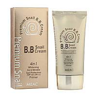 BB крем на основе муцина улитки 4 в 1 SPF50+ Premium Snail B.B. Cream 4 in 1 Mizac