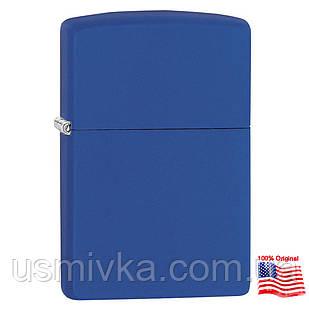 Зажигалка Zippo 229 Classic Royal Blue Matte синяя 229