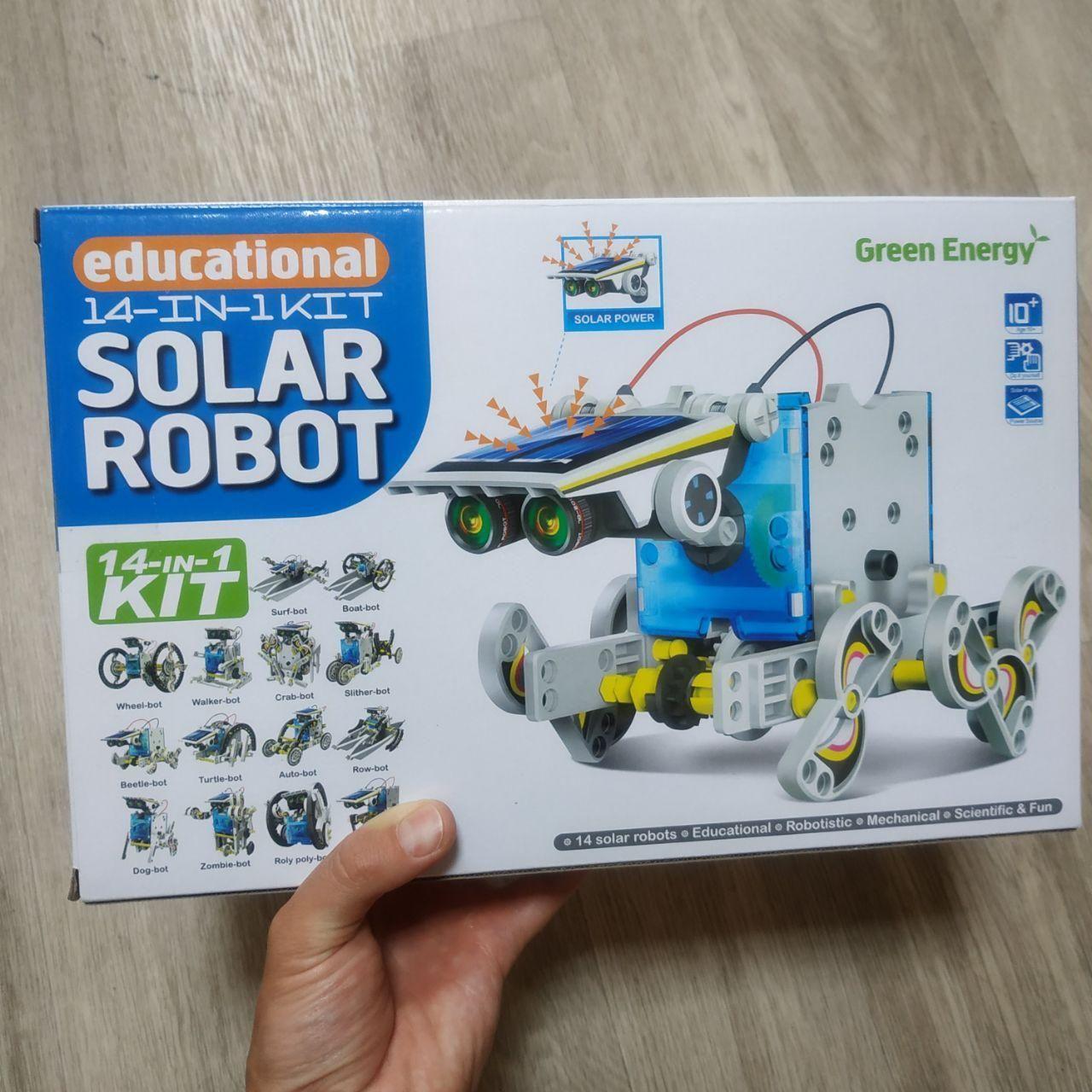 Конструктор робот на солнечных батареях Solar Robot робот 14 в 1 kit