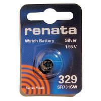 Батарейка для часов Renata 329 (SР731SW) Silver oxide таблетка часовая