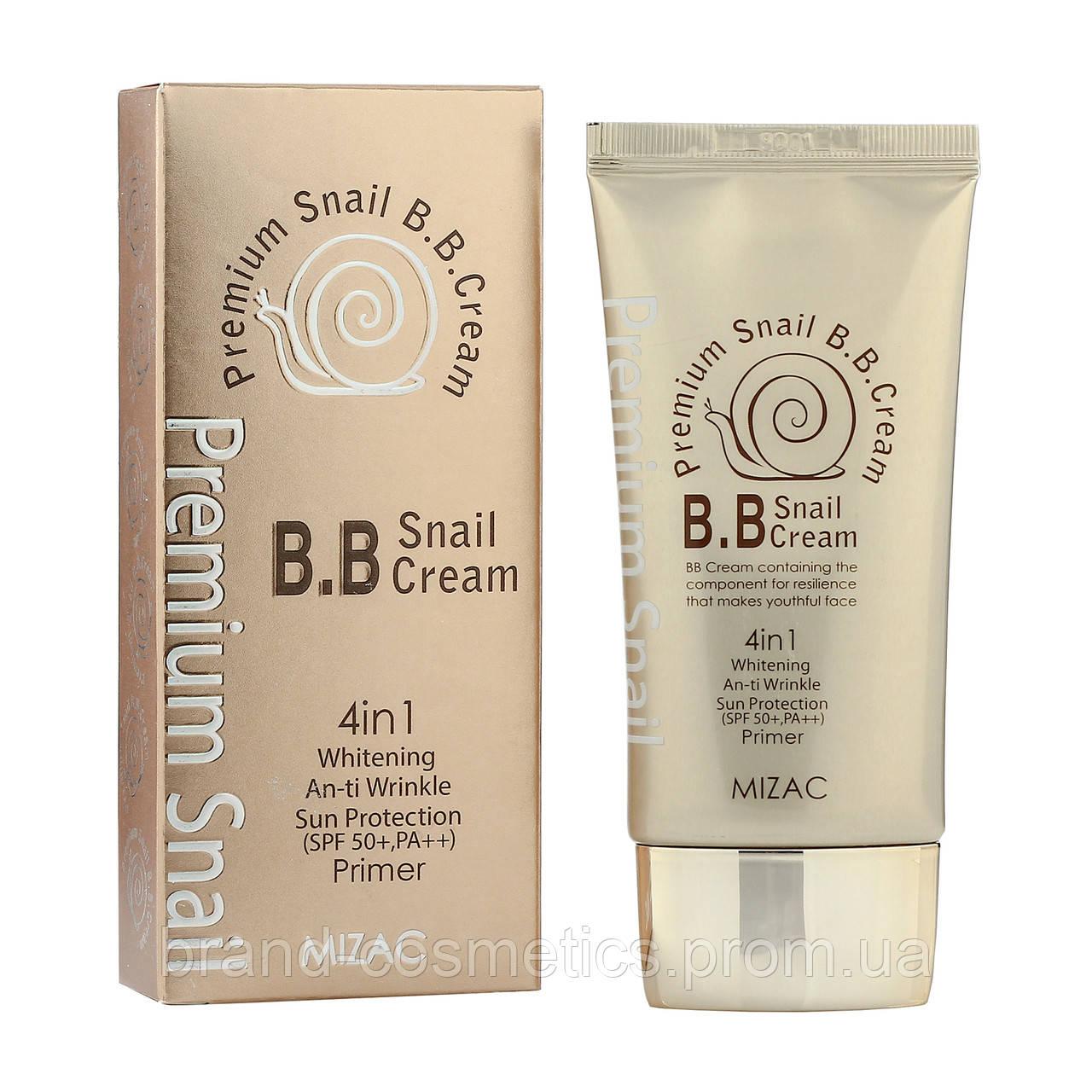 BB Крем Mizac Premium Snail BB Cream 4 в 1 SPF 50