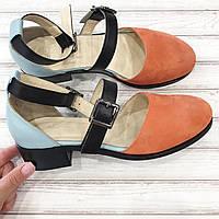 Туфли женские Wladna натуральная замша кожа.