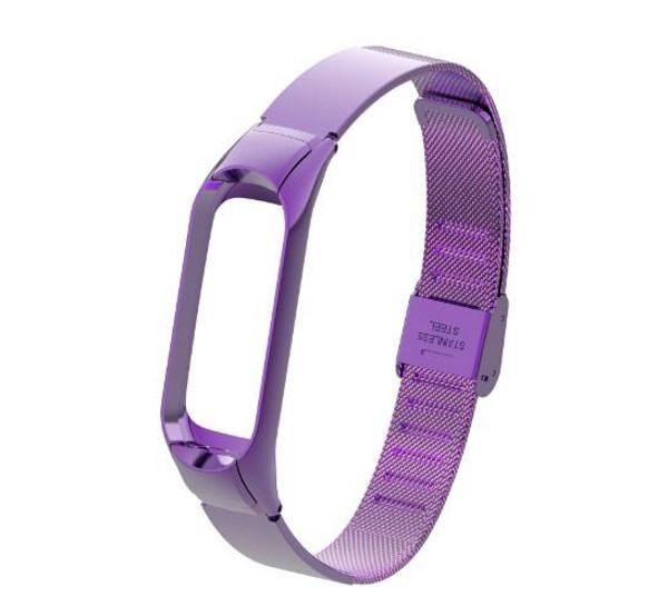 Ремінець ArmorStandart для Xiaomi Mi Band 3 Metal Flat Milanese Purple(ARM54503)