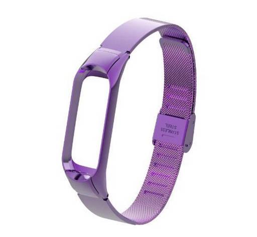 Ремінець ArmorStandart для Xiaomi Mi Band 3 Metal Flat Milanese Purple(ARM54503), фото 2
