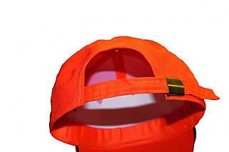Кепка (бейсболка) хлопок Tulle 100% Сotton оранжевая, фото 2