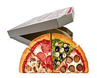 Коробки под пиццу 350х350х35 мм готовые от 100 шт, фото 1