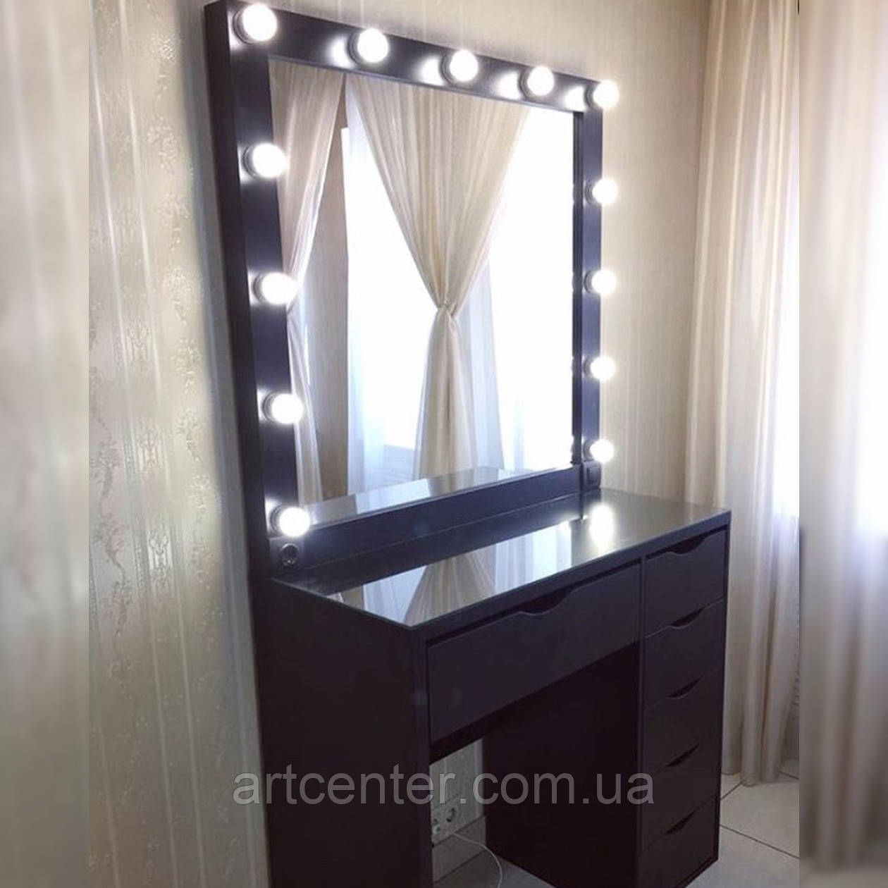 """Стол для макияжа в цвете """"Венге"""", туалетный столик с зеркалом"""