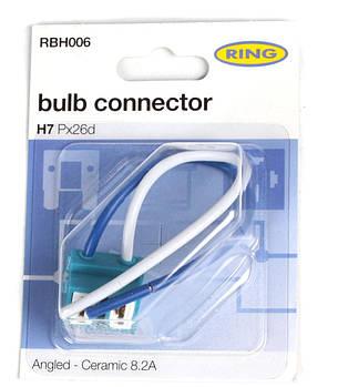 Разъём для ламп керамический H7 (угловой выход кабеля) (RBH006) RING