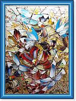 Репродукция  современной картины  «Голубые бабочки»
