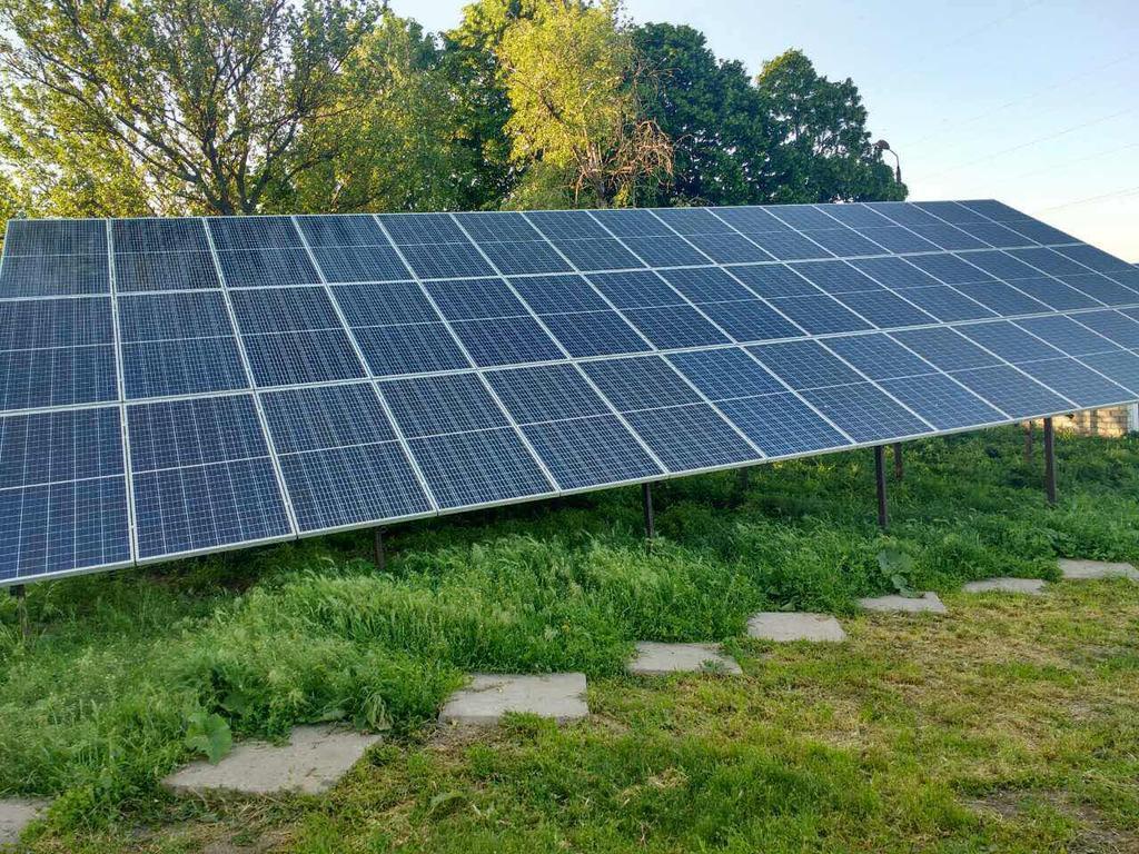 """Кривой Рог солнечная электростанция под """"зеленый"""" тариф мощностью 15 кВт Risen + Huawei Днепропетровская область"""
