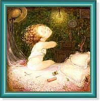 Репродукция  современной картины  «Спать пора»
