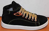 Ботинки подростковые замшевые, детская обувь от производителя модель ДЖ7008-1ЖР