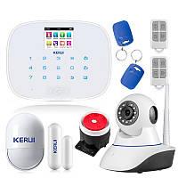 Комплект сигнализации Kerui G19 с Wi-Fi IP-камерой white