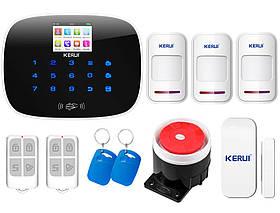 Комплект сигнализации Kerui G19 для 2-комнатной квартиры, Гарантия 12 месяцев