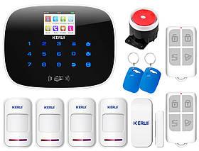 Комплект сигнализации Kerui G19 для 3-комнатной квартиры, Гарантия 12 месяцев