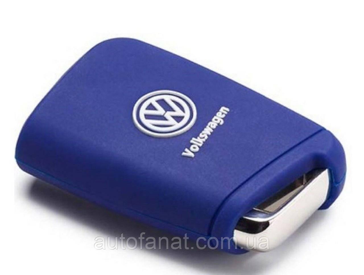 Оригінальний силіконовий чохол для ключа Volkswagen Key Cover, Golf 7 (MQB), Blue (000087012AL3JJ)
