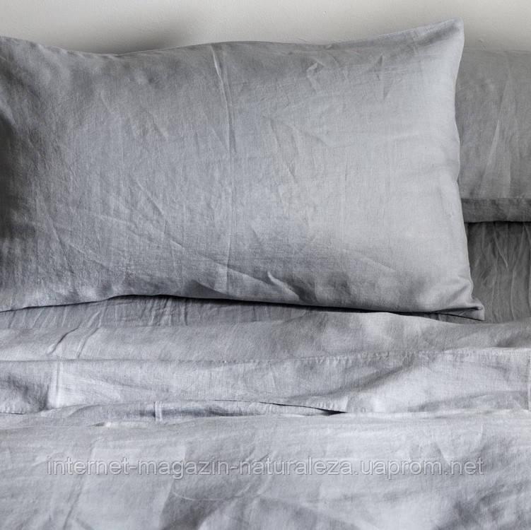Комплект льняного постельного белья евро  220 х 200