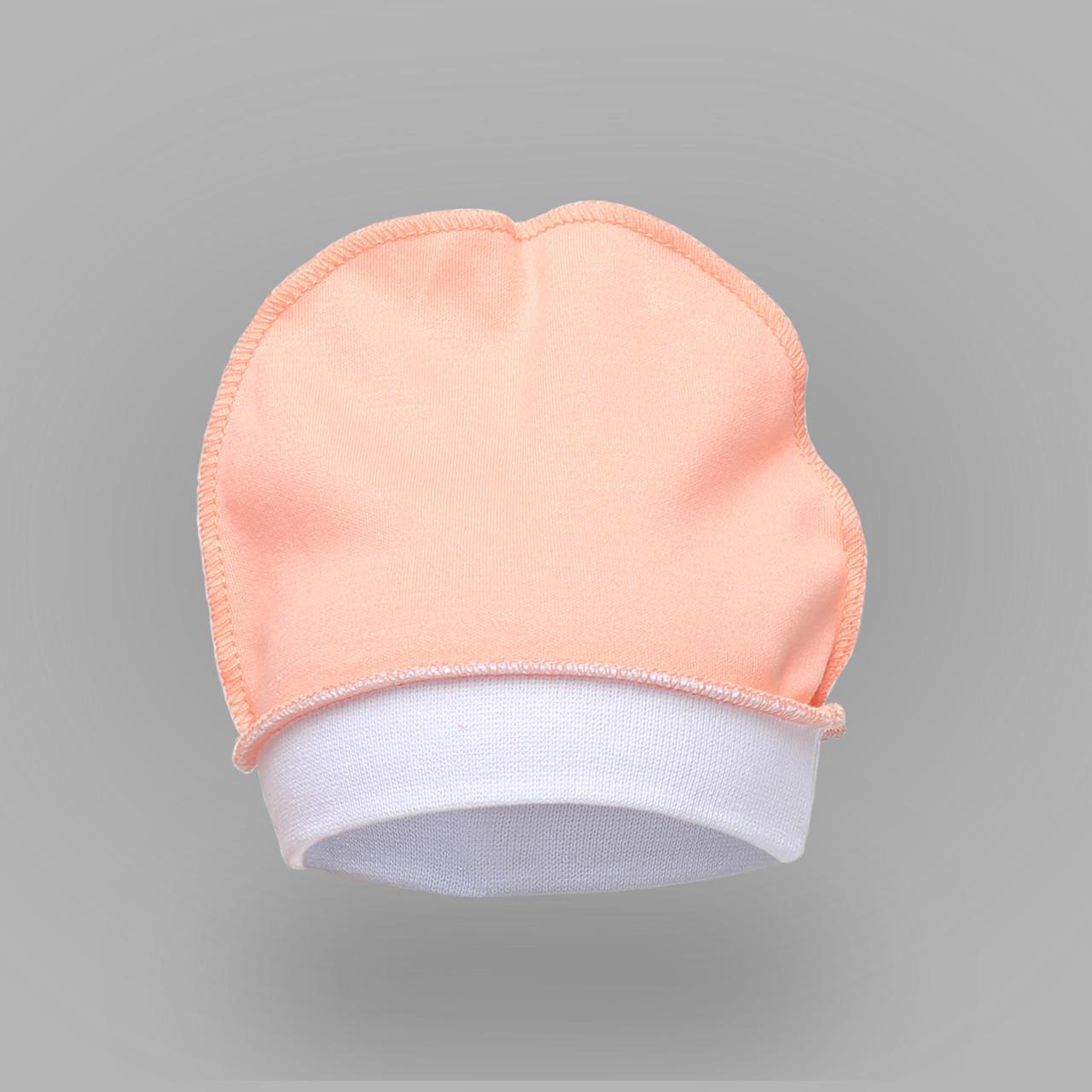 Шапочка для новорожденных. Цвет персиковый