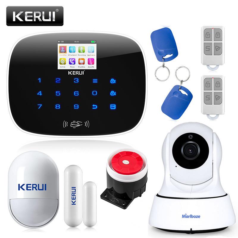 Комплект сигнализации Kerui G19 с Wi-Fi IP-камерой, черная