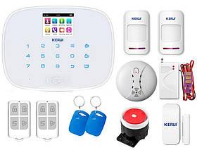 Комплект сигнализации Kerui G19 Pro для 1-комнатной квартиры, белая, Гарантия 12 месяцев