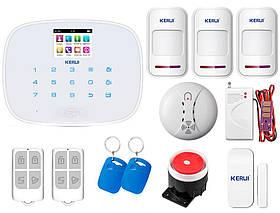 Комплект сигнализации Kerui G19 Pro для 2-комнатной квартиры, белая, Гарантия 12 месяцев