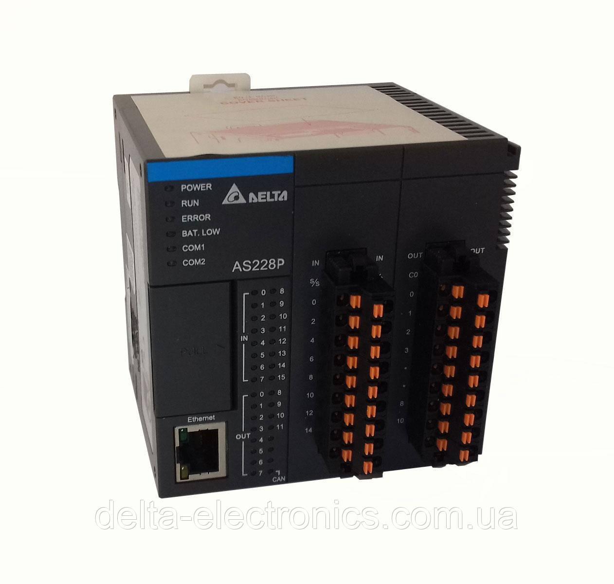 Базовый модуль контроллера серии AS200 Delta Electronics, 16DI/12DO транзисторные выходы (PNP), Ethernet