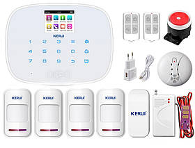 Комплект сигнализации Kerui G19 Pro для 3-комнатной квартиры, белая, Гарантия 12 месяцев
