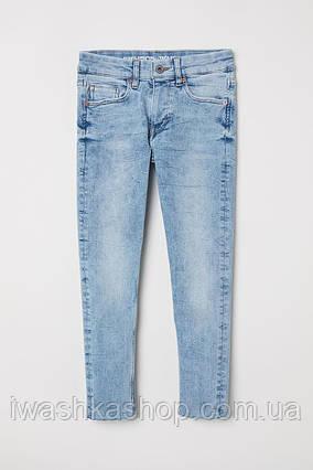 Суперстретчевые голубые джинсы скинни skinny fit для мальчика 9 - 10 лет, р. 140, H&M