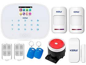 Комплект сигнализации Kerui G19 для 1-комнатной квартиры, белая, Гарантия 12 месяцев