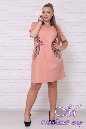 Свободное летнее платье больших размеров (р. 42-90) арт. Людмила, фото 2
