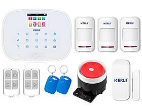 Комплект сигнализации Kerui G19 для 2-комнатной квартиры, белая, Гарантия 12 месяцев