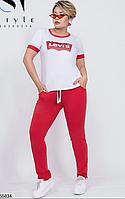 Летний женский спортивный костюм большого размера Украина размеры 48-50,52-54